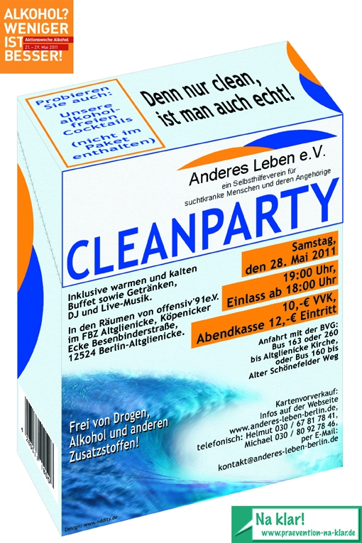 Anderes Leben e.V.-Cleanparty-Flyer